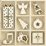 Kaisercraft - Flourishes - Die Cut Wood Pieces Pack - Ornaments