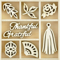 Kaisercraft - Flourishes - Die Cut Wood Pieces Pack - Peachy Keen