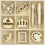 Kaisercraft - Flourishes - Die Cut Wood Pieces Pack - Artist