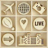 Kaisercraft - Flourishes - Die Cut Wood Pieces Pack - Fly Away
