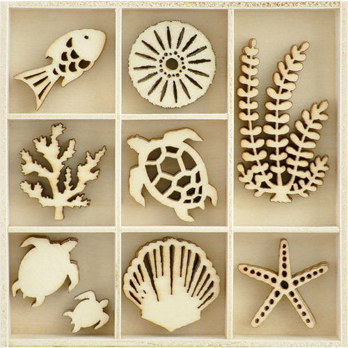 Kaisercraft - Flourishes - Die Cut Wood Pieces Pack - Underwater