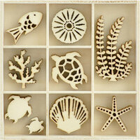 Kaisercraft - Flourishes - Die Cut Wood Pieces Pack - Underwater