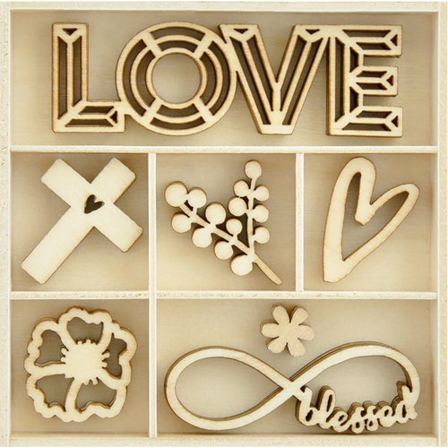 Kaisercraft - Flourishes - Die Cut Wood Pieces Pack - Blessings