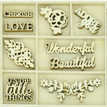 Kaisercraft - Flourishes - Die Cut Wood Pieces Pack - Wonderful