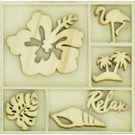 Kaisercraft - Flourishes - Die Cut Wood Pieces Pack - Relax