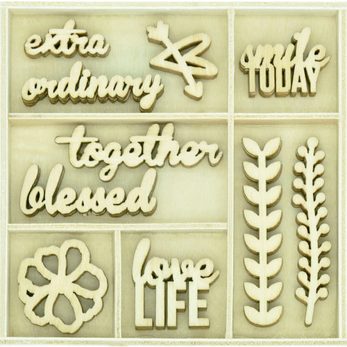 Kaisercraft - Flourishes - Die Cut Wood Pieces Pack - Love Life