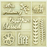 Kaisercraft - Flourishes - Die Cut Wood Pieces Pack - Love Life