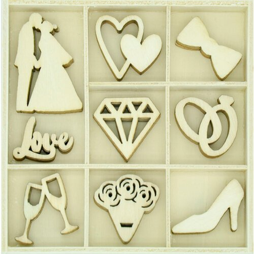 Kaisercraft - Flourishes - Die Cut Wood Pieces Pack - Forever and Always