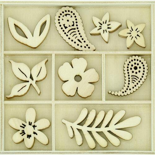 Kaisercraft - Flourishes - Die Cut Wood Pieces Pack - Paisley