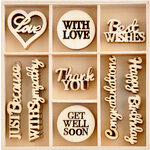 Kaisercraft - With Love Collection - Flourishes - Die Cut Wood Pieces Pack - 45 Pieces