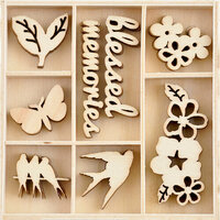 Kaisercraft - Morning Dew Collection - Flourishes - Die Cut Wood Pieces Pack