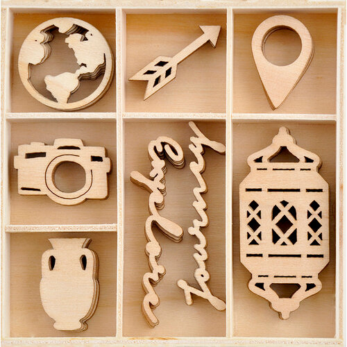 Kaisercraft - Journey Collection - Flourishes - Die Cut Wood Pieces Pack