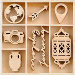 Kaisercraft - Journey Collection - Flourishes - Die Cut Wood Pieces Pack - 40 Pieces