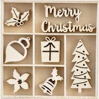 Kaisercraft - Christmas - Peppermint Kisses Collection - Flourishes - Die Cut Wood Pieces Pack