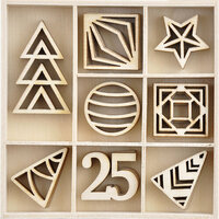 Kaisercraft - Christmas - Starry Night Collection - Flourishes - Die Cut Wood Pieces Pack