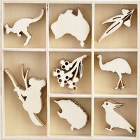 Kaisercraft - Christmas - Under The Gum Leaves Collection - Flourishes - Die Cut Wood Pieces Pack