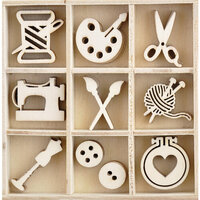 Kaisercraft - Crafternoon Collection - Flourishes - Die Cut Wood Pieces Pack