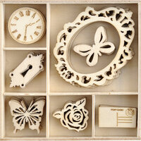 Kaisercraft - Lady Like Collection - Flourishes - Die Cut Wood Pieces Pack