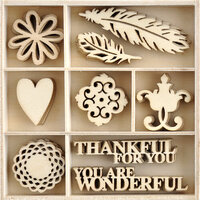 Kaisercraft - Grand Bazaar Collection - Flourishes - Die Cut Wood Pieces Pack