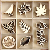 Kaisercraft - Fallen Leaves Collection - Flourishes - Die Cut Wood Pieces Pack