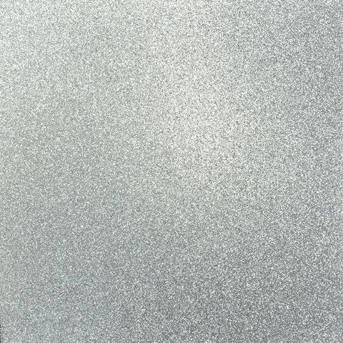 Kaisercraft - 12 x 12 Glitter Cardstock - Platinum