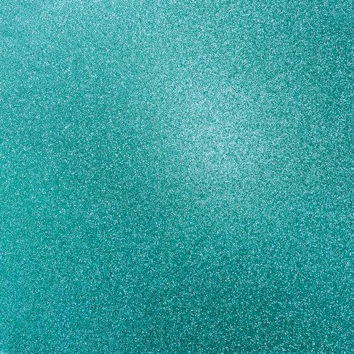 Kaisercraft - 12 x 12 Glitter Cardstock - Lagoon