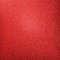 Kaisercraft - 12 x 12 Glitter Cardstock - Ruby