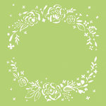 Kaisercraft - 6 x 6 Stencils Template - Floral Wreath