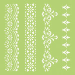Kaisercraft - 6 x 6 Stencils Template - Lace Borders