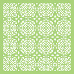 Kaisercraft - Christmas Edition Collection - 6 x 6 Designer Template - Tile Pattern