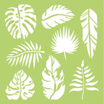 Kaisercraft - 6 x 6 Stencils Template - Tropical Leaves