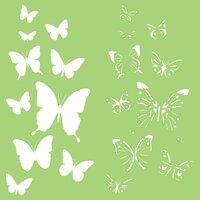Kaisercraft - 6 x 6 Designer Templates - Butterflies