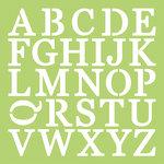 Kaisercraft - 12 x 12 Stencils Template - Uppercase Alphabet
