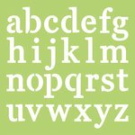 Kaisercraft - 12 x 12 Stencils Template - Lowercase Alphabet