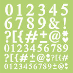 Kaisercraft - 12 x 12 Stencils Template - Number and Punctuation