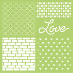 Kaisercraft - 12 x 12 Stencils Template - Love