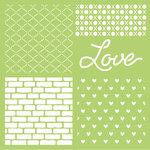 Kaisercraft - 12 x 12 Stencils Template - Love