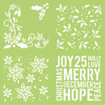 Kaisercraft - Christmas - 12 x 12 Stencils Template - Holly