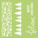 Kaisercraft - 12 x 12 Stencils Template - Christmas Borders