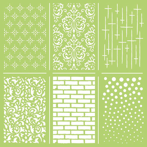 Kaisercraft - 12 x 12 Stencils Template - Mini Mix