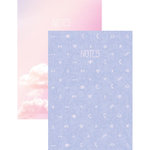 Kaisercraft - The Lunar Collection - Kaiserstyle - Notebook Pocket with Pearl Foil Accents