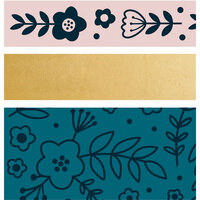 Kaisercraft - Kaiserstyle - Rosy Collection - Printed Tape with Foil Accents