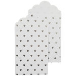 Kaisercraft - Lucky Dip - Foil Printed Gift Envelopes - White and Silver