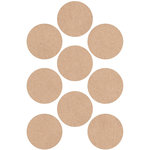 Kaisercraft - Lucky Dip - Stickers - Circles - Kraft