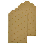 Kaisercraft - Lucky Dip - Glitter Gift Envelopes - Kraft and Gold