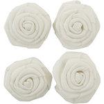 Kaisercraft - Lucky Dip - Burlap White Flowers