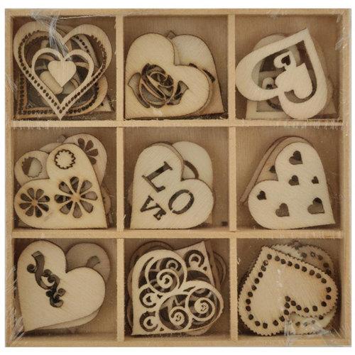 Kaisercraft - Lucky Dip - Wooden Shapes - Love