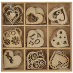 Kaisercraft - Lucky Dip - Wooden Shapes - Love