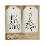 Kaisercraft - Lucky Dip Collection - Christmas - Gift Tag Box - Joy to the World