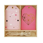 Kaisercraft - Lucky Dip Collection - Gift Tag Box - Geo Heart